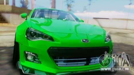 Subaru BRZ 2013 Rocket Bunny pour GTA San Andreas vue intérieure