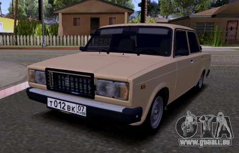 VAZ 2107 KBR pour GTA San Andreas laissé vue
