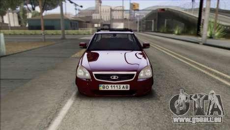Lada Priora Ukrainian Stance pour GTA San Andreas vue de droite