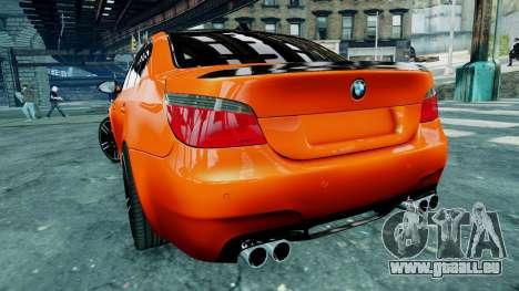 BMW M5 E60 pour GTA 4 est une vue de l'intérieur