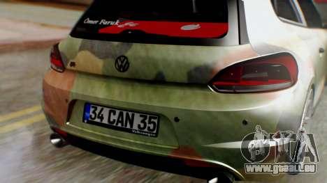 Volkswagen Scirocco R Army Edition pour GTA San Andreas vue arrière