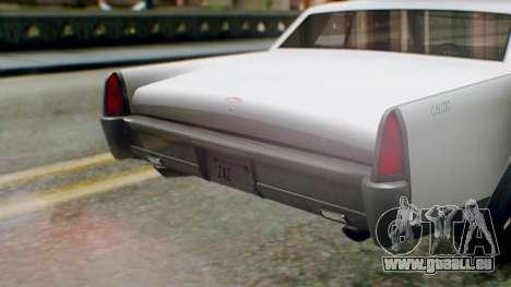 GTA 5 Vapid Chino Tunable IVF PJ pour GTA San Andreas vue intérieure