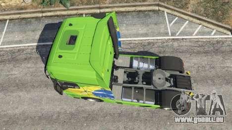 GTA 5 Mercedes-Benz Actros Euro 6 [Brasil] Rückansicht