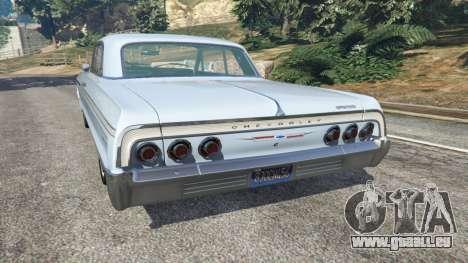GTA 5 Chevrolet Impala SS 1964 v2.0 hinten links Seitenansicht