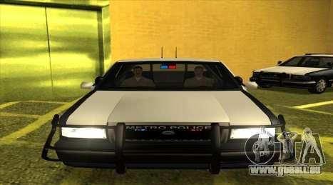 Police SF für GTA San Andreas zurück linke Ansicht