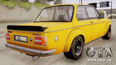BMW 2002 Turbo 1973 Stock für GTA San Andreas linke Ansicht