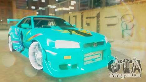 Nissan Skyline GT-R R34 Cyan Edition 2001 pour GTA San Andreas