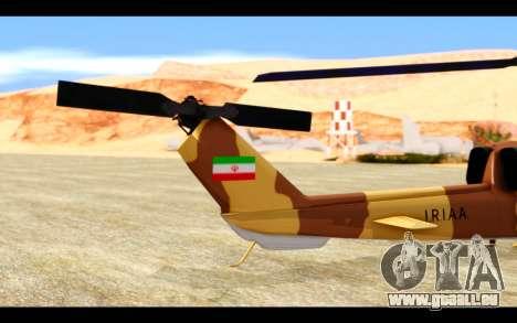 AH-1W IRIAF SuperCobra pour GTA San Andreas vue intérieure