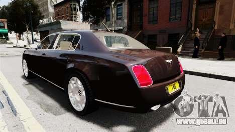 Bentley Continental 2010 Flying Spur Beta für GTA 4 Innenansicht