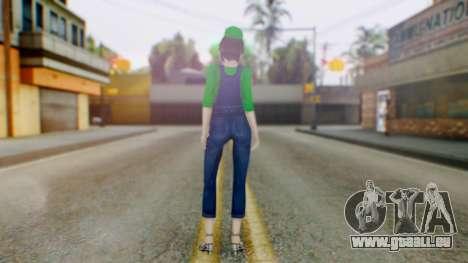 Fatal Frame 4 Misaki Luigi Clothes pour GTA San Andreas troisième écran