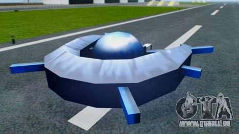 Alien Ship Dark Blue für GTA San Andreas rechten Ansicht
