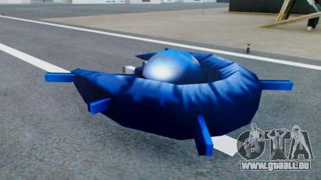 Alien Ship Dark Blue für GTA San Andreas zurück linke Ansicht