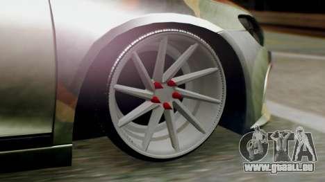 Volkswagen Scirocco R Army Edition pour GTA San Andreas sur la vue arrière gauche