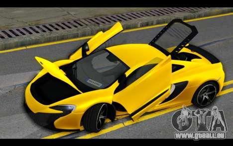 McLaren 650S Coupe für GTA San Andreas Motor