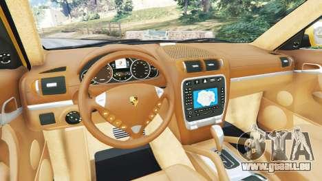 GTA 5 Porsche Cayenne Turbo 2003 arrière droit vue de côté