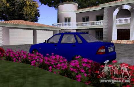 VAZ 2170 KBR pour GTA San Andreas vue arrière