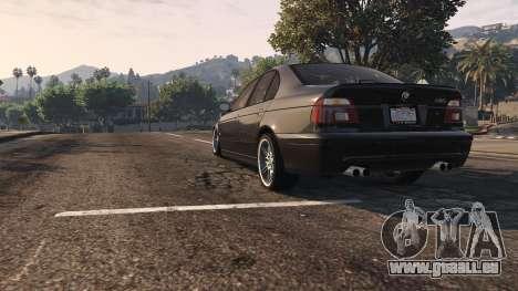 GTA 5 BMW M5 E39 1.1 vue arrière