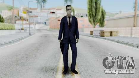 GMAN v1 from Half Life für GTA San Andreas zweiten Screenshot