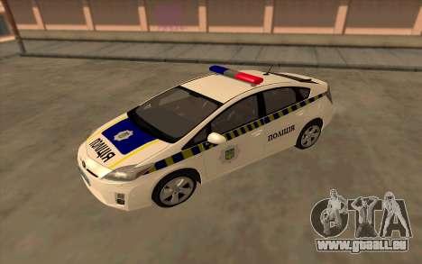 Toyota Prius Police De L'Ukraine pour GTA San Andreas vue de droite