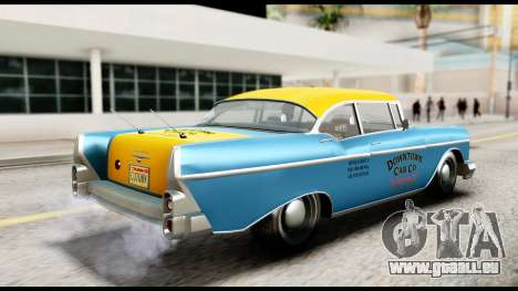 GTA 5 Declasse Cabbie v2 IVF pour GTA San Andreas sur la vue arrière gauche