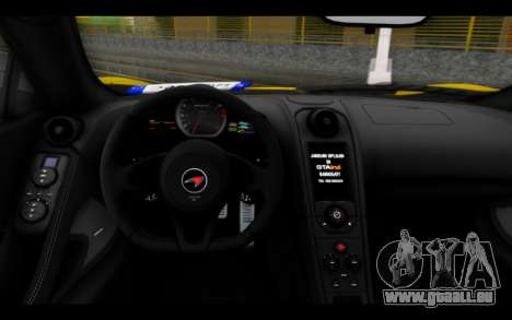McLaren 650S Coupe pour GTA San Andreas vue de droite