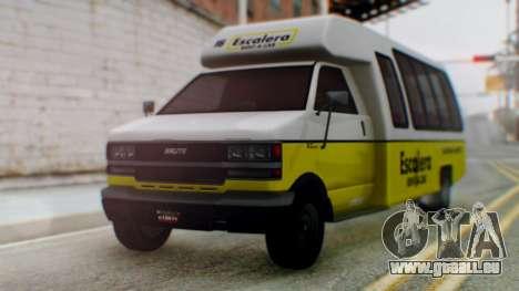GTA 5 Rental Shuttle Bus Escalera Livery für GTA San Andreas