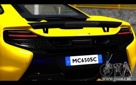 McLaren 650S Coupe pour GTA San Andreas vue de côté