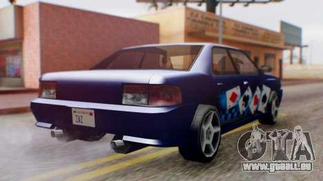 Sultan Carte de Vinyle à partir de NFS Undergrou pour GTA San Andreas sur la vue arrière gauche