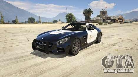 LAPD Mercedes-Benz AMG GT 2016 pour GTA 5