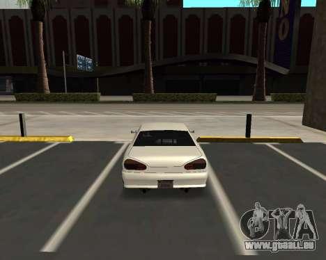 Elegy C35 pour GTA San Andreas sur la vue arrière gauche