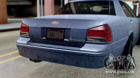 GTA 5 Vapid Stanier II IVF für GTA San Andreas Innenansicht