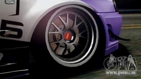 Nissan Skyline R34 Stance Nico Yazawa Itasha pour GTA San Andreas vue de droite