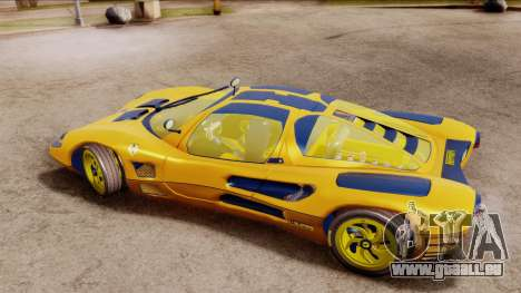Ferrari P7 Gold für GTA San Andreas zurück linke Ansicht
