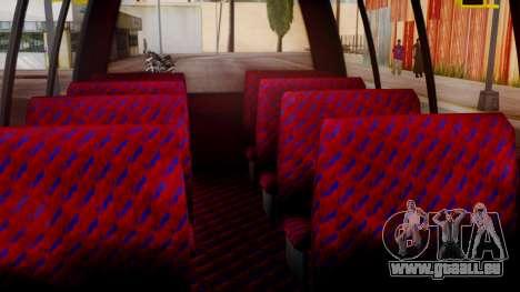 GTA 5 Rental Shuttle Bus Touchdown Livery für GTA San Andreas Rückansicht