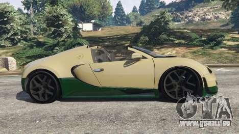 GTA 5 Bugatti Veyron Grand Sport Vitesse vue latérale gauche