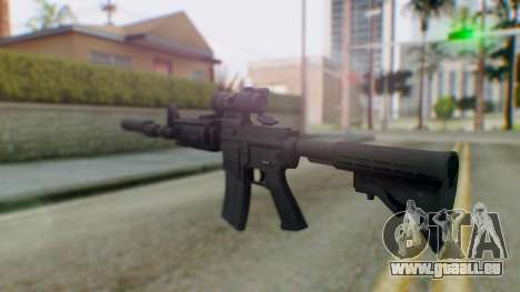Arma Armed Assault M4A1 Aimpoint Silenced für GTA San Andreas zweiten Screenshot