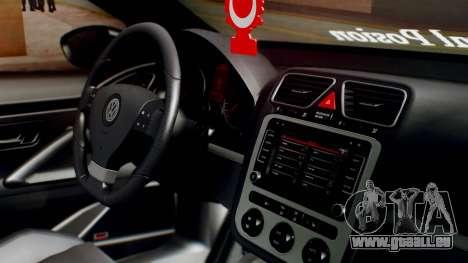 Volkswagen Scirocco R Army Edition pour GTA San Andreas vue de droite