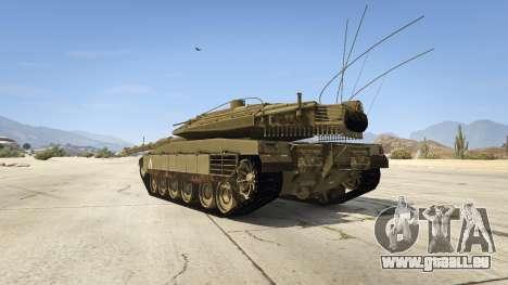 GTA 5 Merkava IV arrière vue latérale gauche