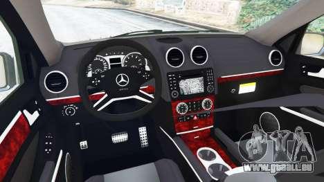 GTA 5 Mercedes-Benz ML63 (W164) 2009 hinten rechts