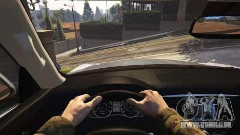 GTA 5 Infiniti QX56 arrière droit vue de côté