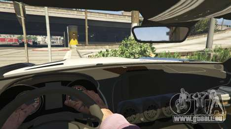 GTA 5 LAPD Mercedes-Benz AMG GT 2016 hinten rechts