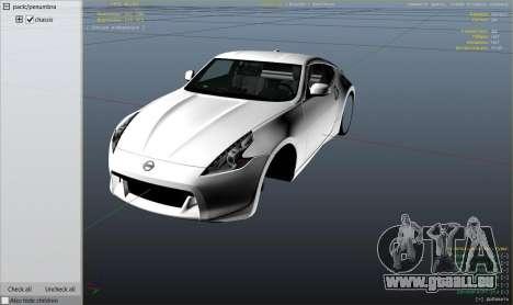 GTA 5 Nissan 370z v2.0 rechte Seitenansicht