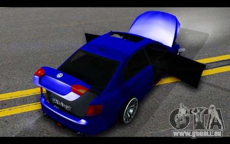 Volkswagen Jetta pour GTA San Andreas vue de dessous