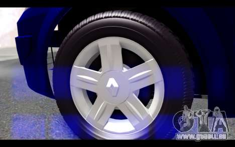 Renault Megane Sedan für GTA San Andreas zurück linke Ansicht