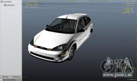 GTA 5 Ford Focus SVT MK1 v1.1 rechte Seitenansicht