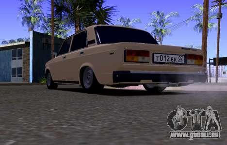 VAZ 2107 KBR pour GTA San Andreas vue de droite