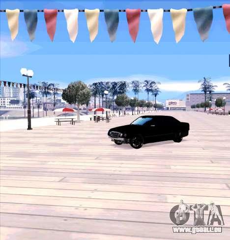 Mercedes Benz E-Class pour GTA San Andreas laissé vue
