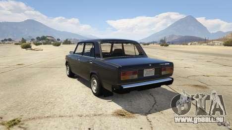 GTA 5 VAZ-2107 Lada Riva v1.2 hinten links Seitenansicht