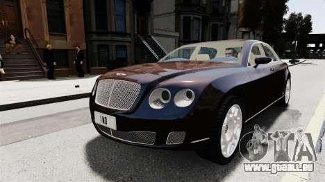 Bentley Continental 2010 Flying Spur Beta für GTA 4 Rückansicht