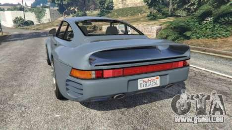 GTA 5 Porsche 959 1986 arrière vue latérale gauche